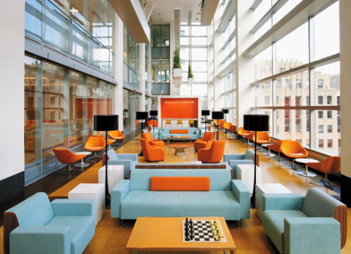 An interior designer talks about massachusetts legislation for Commercial office space design ideas